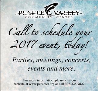 Call to schedule your 2017 event, today!