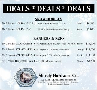 Deals, Deals, Deals