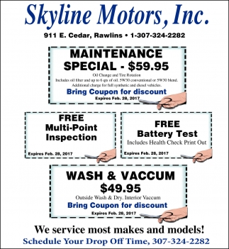 We service most makes and models!