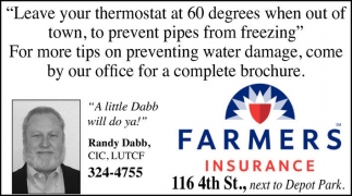 Leave your thermostat at 60 degrees when out of town, to prevent pipes from freezing