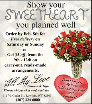 Show your sweetheart you planned well