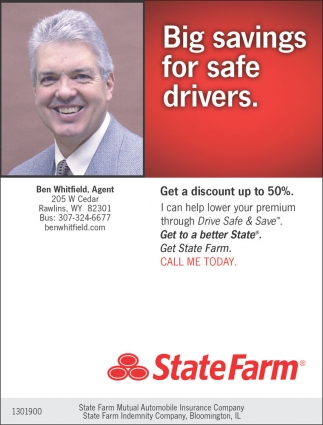 Big Savings for Safe Drivers