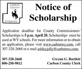Notice of Scholarship