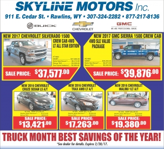 Truck Month Best Savings of the Year!