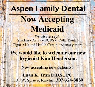Now Accepting Medicaid