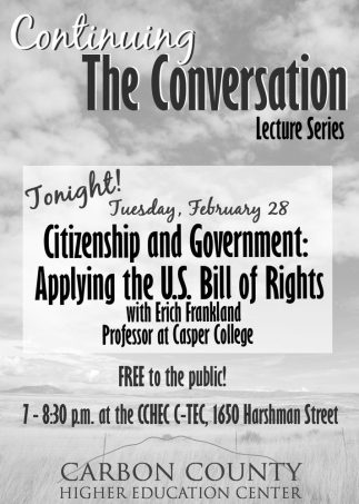 Continuing the Conversation Lecture Series