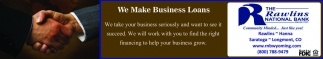 We Make Business Loans