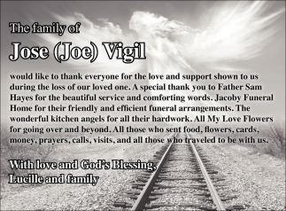 The Family of Jose (Joe) Vigil