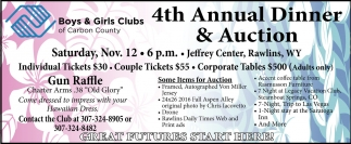 4th Annual Dinner and Auction