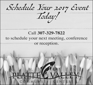 Schedule Your 2017 Event Today!!