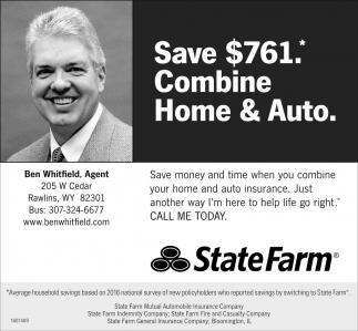 Save $761.* Combine Home & Auto