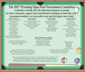 The 2017 Open Pool Tournament Committee