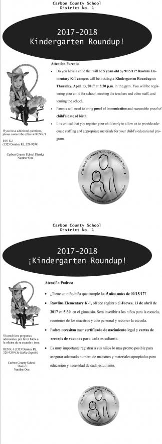 2017-2018 Kindergarten Roundup!