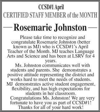 Rosemarie Johnston