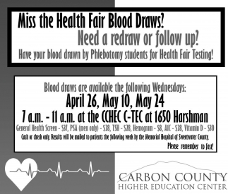 Miss the Health Fair Blood Draws?
