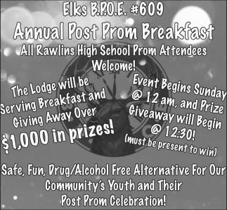 Annual Post Prom Breakfast
