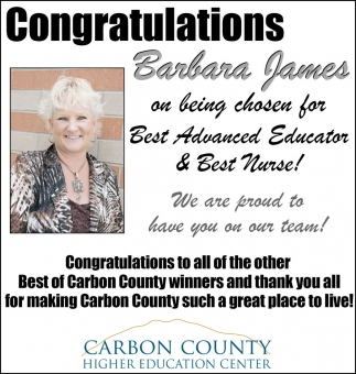 Congratulations Barbara James