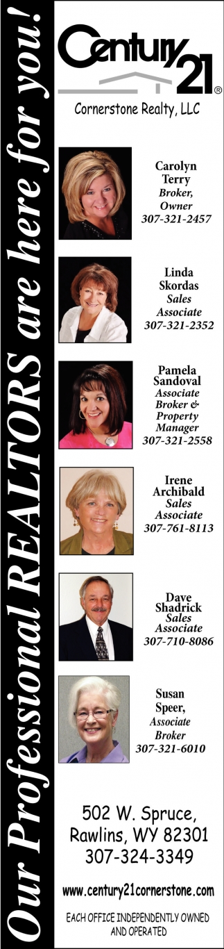 Our Professional Realtors are here for You!